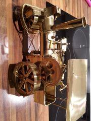 Dampfmaschine Dampfwalze aus Messing