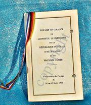 Zeitgeschichte Dokument 1961 Lübke Frankreich