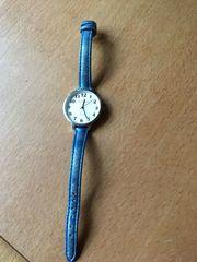 Armbanduhr Damen Band Blau Metallic