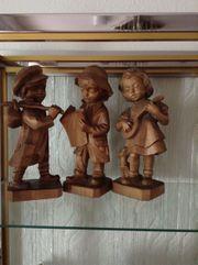 Drei Holzfiguren ca 40 cm