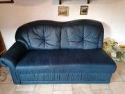 Couchteil mit Sessel dunkelblau