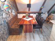 Kompl Esszimmer Tisch Massiv Stühle