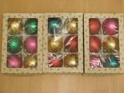 18 alte Weihnachtsbaumkugeln bunt Eckartina