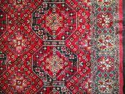 Wandteppich Decke rot gemustert