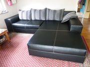 großes Sofa Kunstleder mit Bettkasten