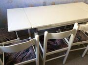 Ausziehbarer Esstisch mit 6 Stühle