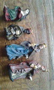 Alte Krippen Figuren weihnachten hl