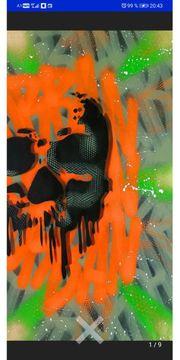 Gemälde von FUR Handsigniert mit