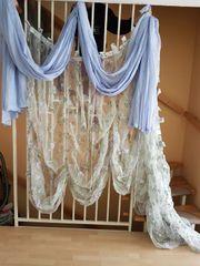 Gardine Überhang Bettdecke mit 2