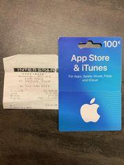 Apple iTunes Geschenkkarte Wert 100