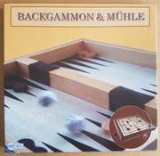 Backgammon Mühle Spiel NEU UNBENUTZT