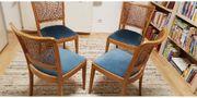 Vintage Cafehaus Stühle in Blau