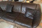 Hochwertiges Büffelleder Sofa Vintage Mid-Century
