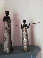 Afrikanische Frau mit Tochter