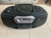 Philips CD Player Kassette Radio