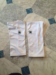 Paar weiße Kniewärmer Größe S