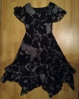 Sommer- / Partykleid Gr. 42, schw. / grau