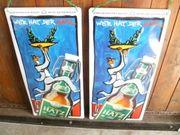 2 Blechschilder von Brauerei Hatz