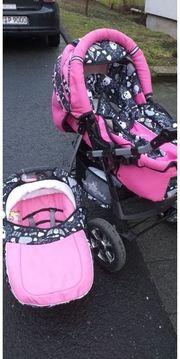3in1 Kinderwagen pink