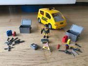 playmobil ADAC-Set mit Flugzeug Abschlepper