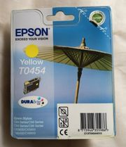 Original Epson T0454 Tintenpatronen gelb