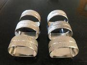 Serviettenringe Silber 50er-Jahre - 6 Stück Setpreis