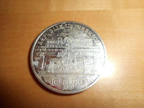 Silber Zehn Euro Münzen Aus österreich In Bludenz Kaufen Und