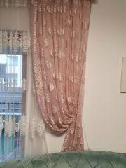 deko gardinen rosa 4 Stück