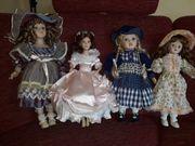 Porzellanpuppen-Sammlung mit 8 Puppen aus