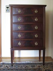 Englische Mahagoni-Stilmöbel 4 Hohe Schubladenkommode