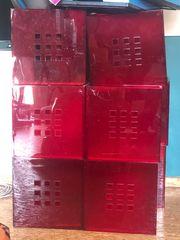 10 rote Kisten für Kallax