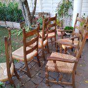 6 robuste Massiv-Holz Stühle
