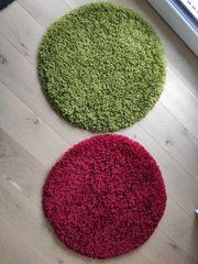 Shaggy Teppiche grün und rot