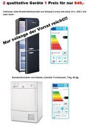 Kühlschrank und Trockner zu einem
