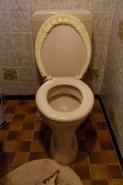 Badezimmer Toilette Boiler Waschbecken