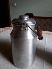 Milchkanne Alu alt top Deko -