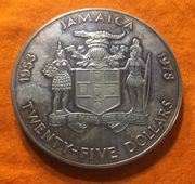 Große Silbermünze 136 Gramm Twenty-Five