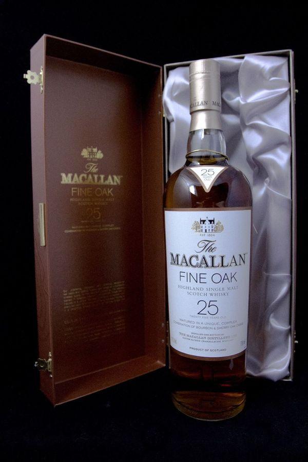 Macallan 25 Fine Oak Scotch