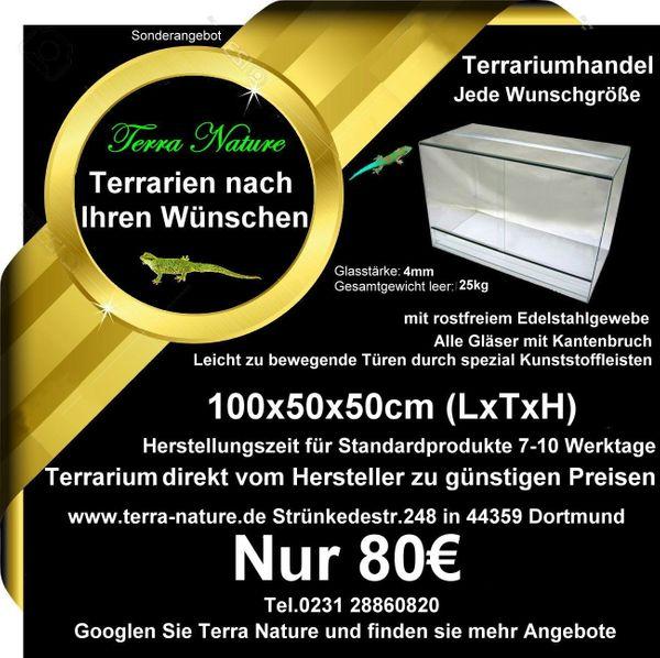 Terrarium 100x50x50cm LxTxH