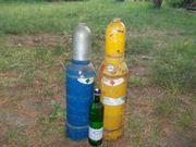 Sehr kleine Acetylen und Sauerstoffflaschen