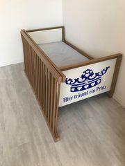 Paidi Kinderbett Juniorbett Umbauseitenteile Matratze