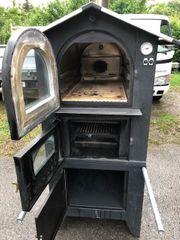 Holzbackofen Flammkuchen Pizza Holzfeuerung Aussenbereich