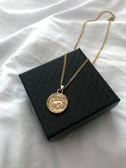 Sternzeichen Goldkette aus Edelstahl