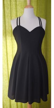 Schwarzes Knielanges Kleid Gr 36