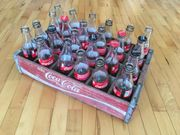 Coca Cola Holzkiste mit 24