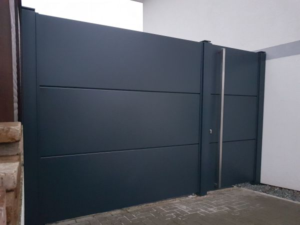 schiebetore von stroka nach ma einfahrtstor z une gartentor hoftor toranlage direkt vom. Black Bedroom Furniture Sets. Home Design Ideas