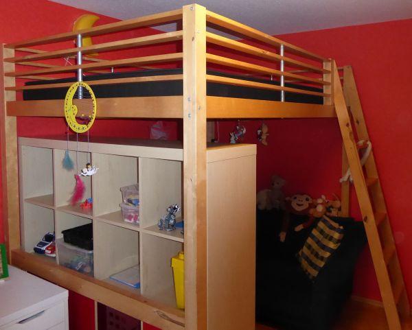 Hochbett Massivholz Kaufen : Ikea hochbett massivholz 140x200 bett stockbett fjelldal in