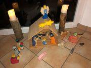 Weihnachtskrippe für Kinder aus Holz