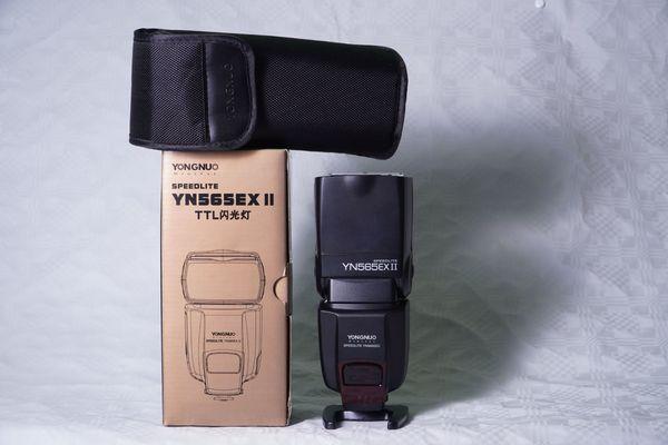 Blitzgerät für Canon YONGNUO Speedlite YN565EX II - Mannheim - Verkaufe neuwertiges Blitzgerät für Canon YONGNUO Speedlite YN565EX II nur ein paar Mal benutzt.Lieferumfang:YONGNUO Speedlite YN565EX IIStand FußBedienungsanleitung (Englisch)Tasche Originale Verpackung - Mannheim
