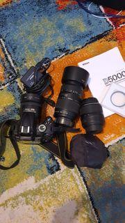 Nikon D5000 viel Zubehör